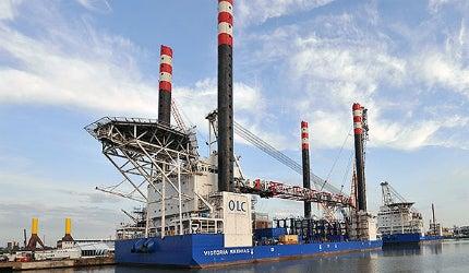 Victoria Mathias offshore installation vessel German wind farm power energy North Sea