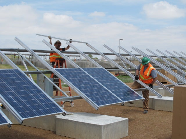 Ground-mounted solar project