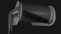 CleanScrape design addresses the belt diagonally