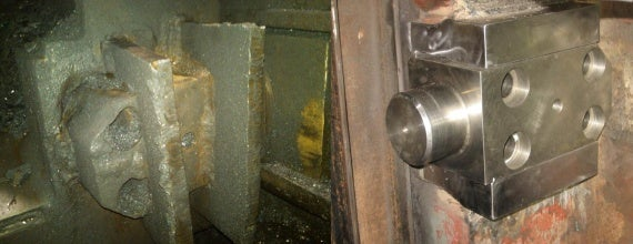 Field System Machining repaired this open die forge receiver pocket on-site.