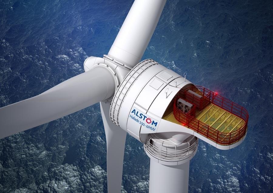 Alstom_6MW Haliade-150 offshore wind turbine