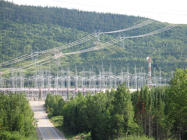 A substation on Quebec's North Shore
