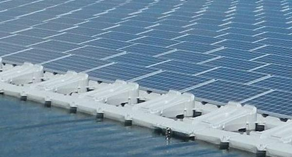 Kyocera floating solar power plant, Yamakura dam, Japan