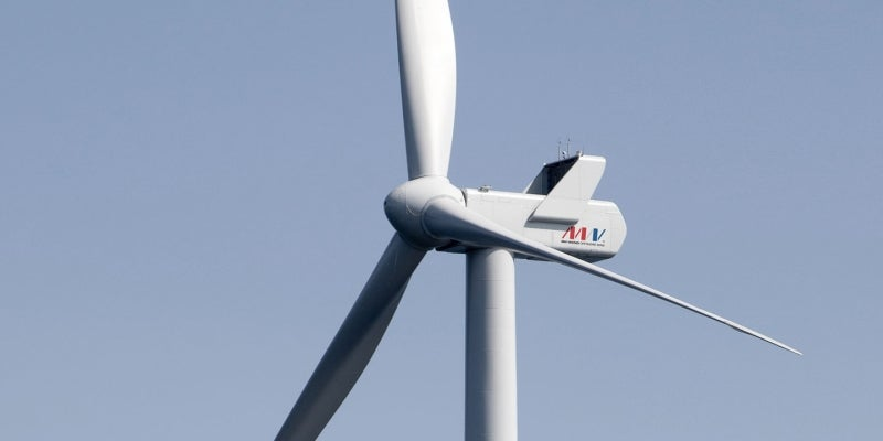 Nobelwind offshore wind farm is being developed 46km off the coast of Zeebrugge, in North Sea, Belgium